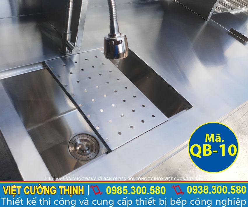Quầy bar pha chế trà sữa inox cao cấp QB-10