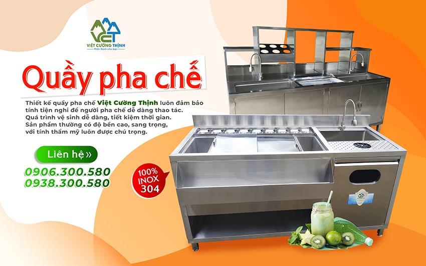 Quầy pha chế inox Việt Cường Thịnh