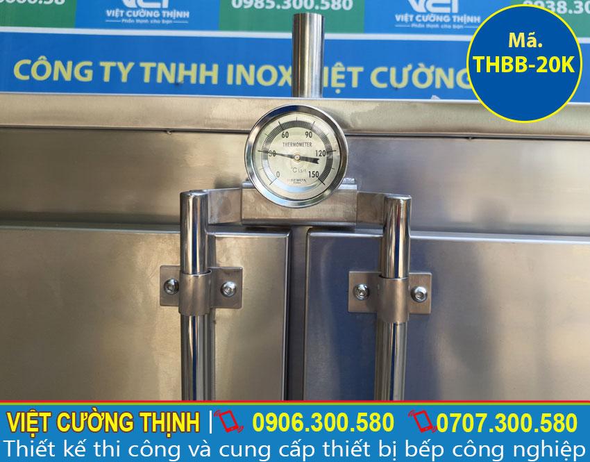 Đồng hồ nhiệt tủ hấp bánh bao công nghiệp