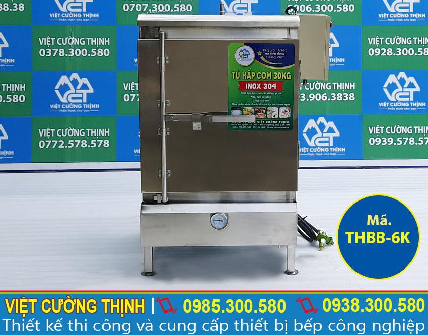 Góc chính diện tủ hấp bánh bao tại Việt Cường Thịnh