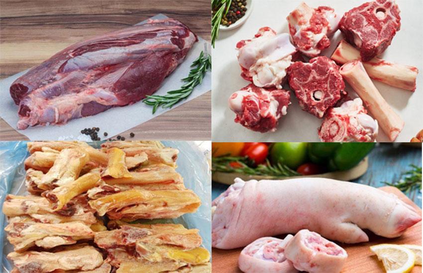 Nguyên liệu nấu bún bò