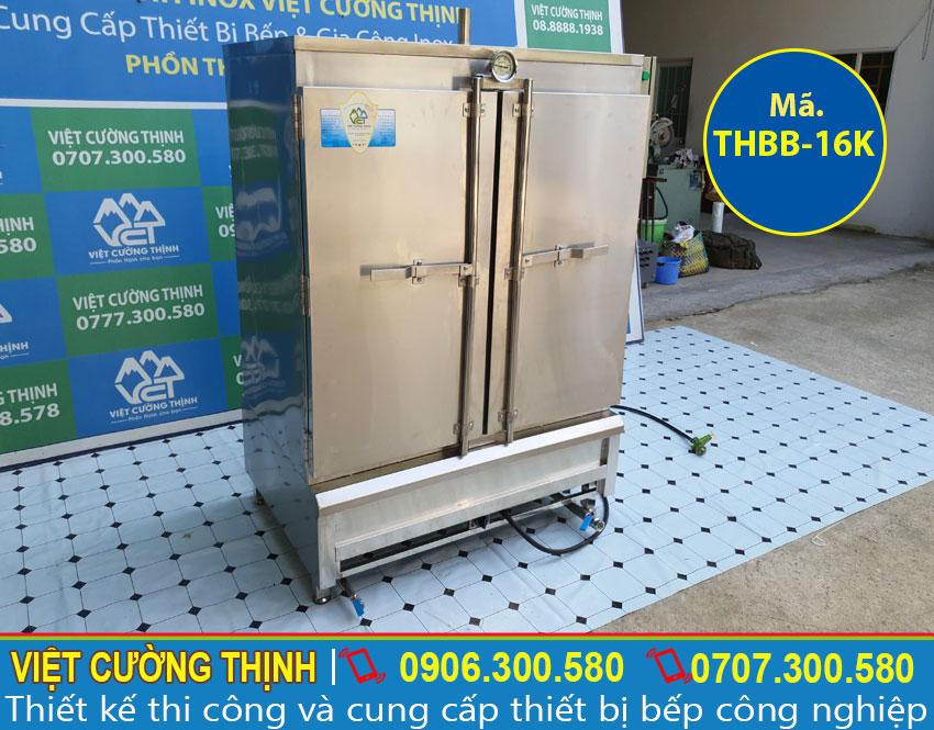 Tủ hấp bánh bao công nghiệp tại xưởng Việt Cường Thịnh
