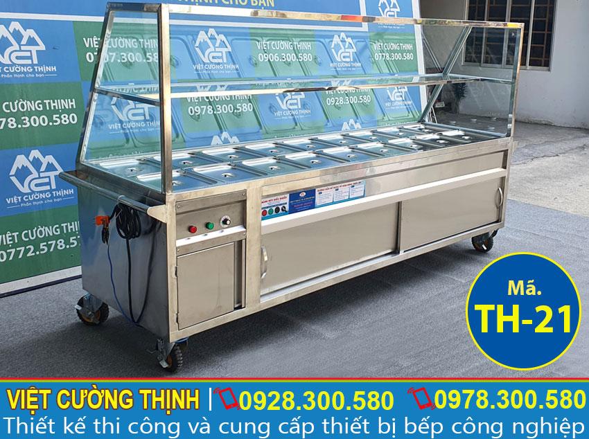 Báo giá tủ giữ nóng thức ăn công nghiệp 18 khay TH-21.