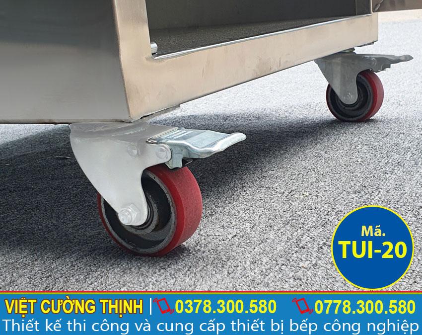 Bánh xe tủ inox chứa đồ TUI-20