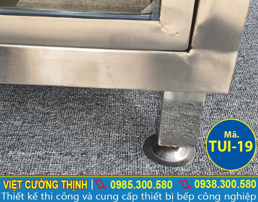 Chân tủ inox chứa đồ TUI-19