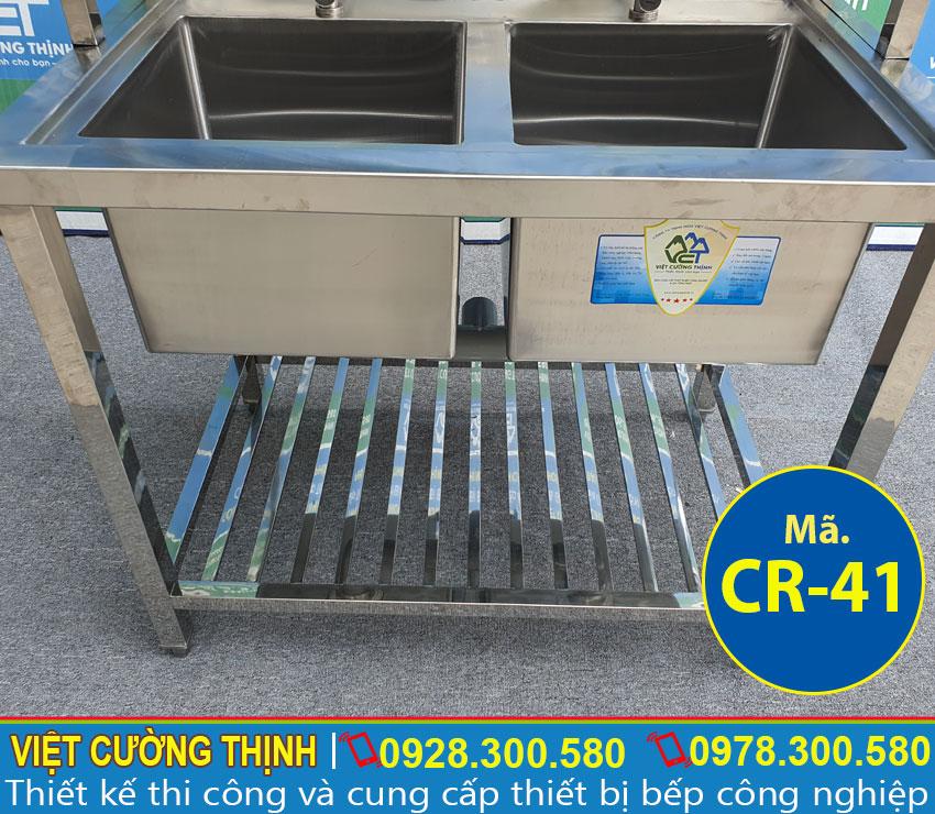 Gia công bồn rửa inox 2 hộc theo yêu cầu
