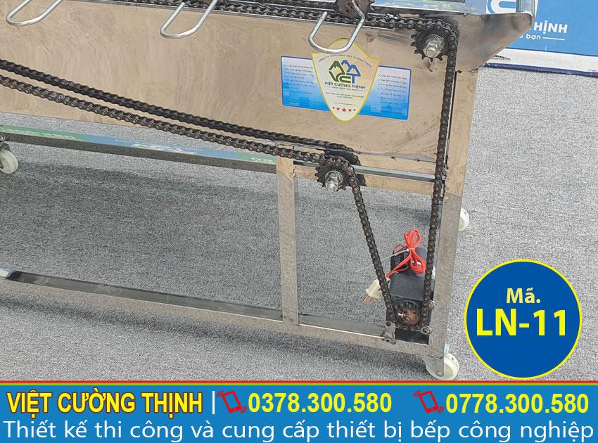 Hệ thống quay của lò nướng 5 xiên tự động quay LN-11