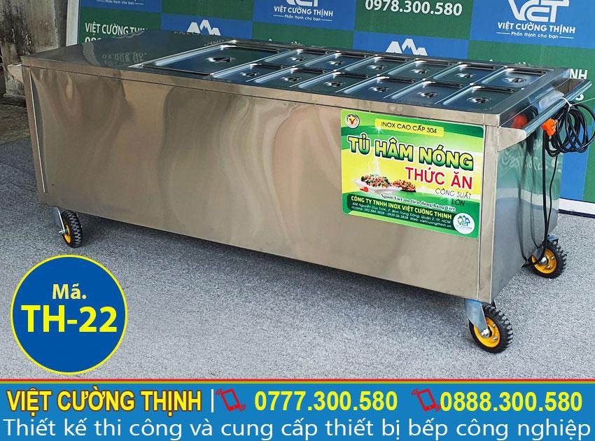 Quầy hâm nóng thức ăn 13 khay TH-22 chất lượng cao