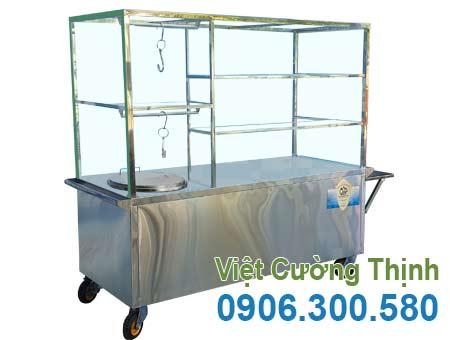 Xe bán phở, hủ tiếu inox 304 XBP-04 chất lượng cao